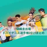 【錦織圭2回戦敗退】ドバイテニス選手権2019動画ハイライト・ドロー・試合速報まとめ | ATP500
