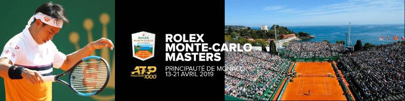錦織圭出場試合:ロレックス・モンテカルロ・マスターズ2019(ROLEX MONTE-CARLO MASTERS)