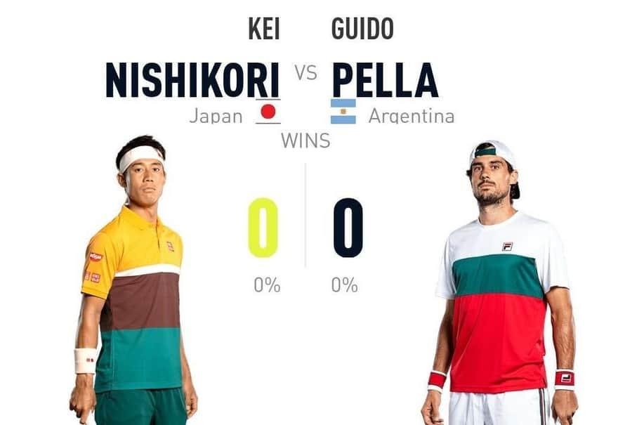 錦織圭 vs グイド・ペラ 過去対戦成績